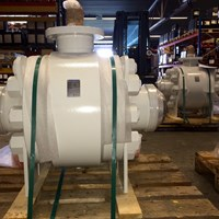 "6"" 2500# BW Trunnion Mounted ROV Ball Valve"